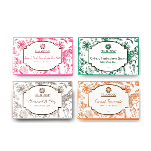 Rose Clay Kale Carrot Soaps - 4 Pack