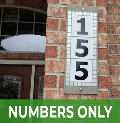 Numbers Only Address Sign