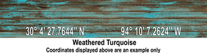 Latitude Longitude - Weathered Turquoise