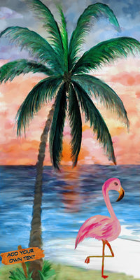 "Flamingo Stroll - 10"" Top"