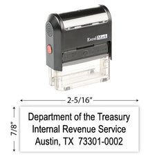 IRS Return Address Stamp 3