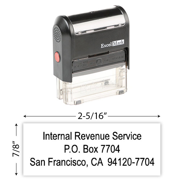 IRS Return Address Stamp 8