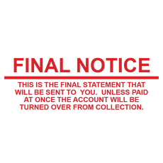 Statement FINAL NOTICE Stamp