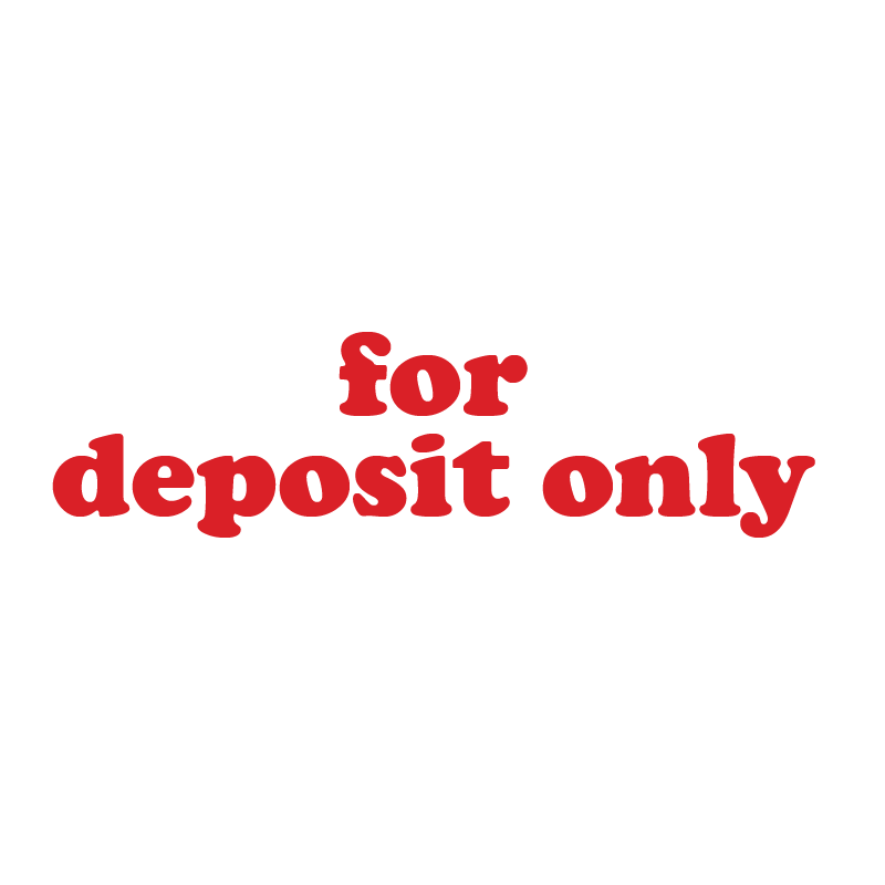 Serif For Deposit Only Stamp