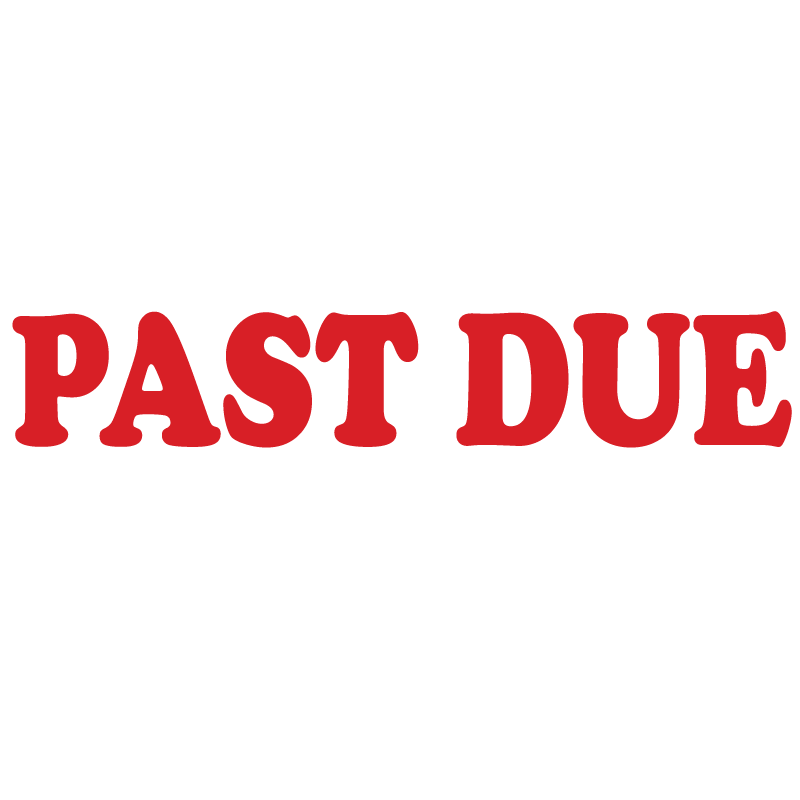 Serif PAST DUE Stamp