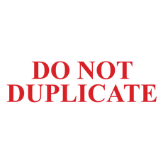 DO NOT DUPLICATE Stamp