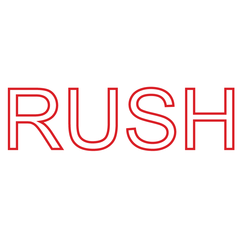 Outline RUSH Stamp