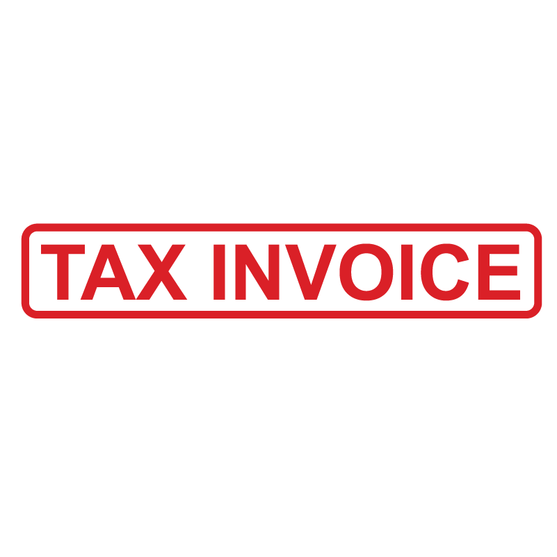 Box TAX INVOICE Stamp