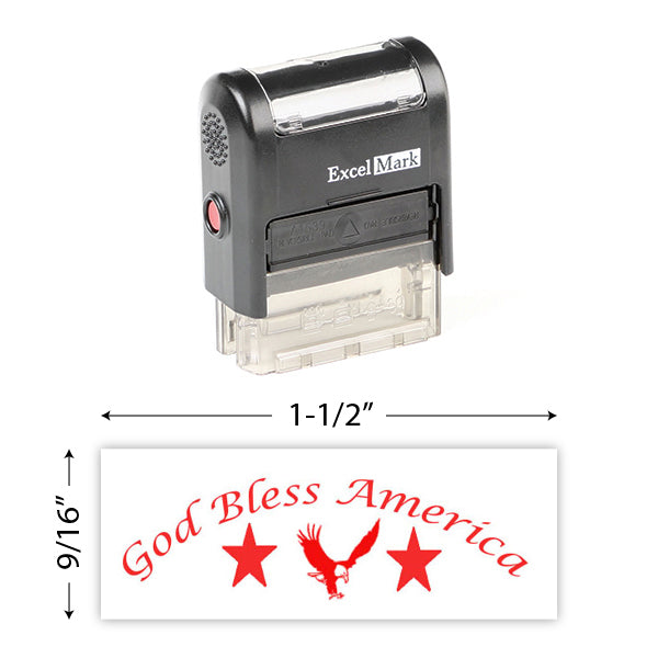 God Bless America (3) Stamp