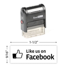 Like Us On Facebook Stamp