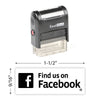 Find Us On Facebook Stamp