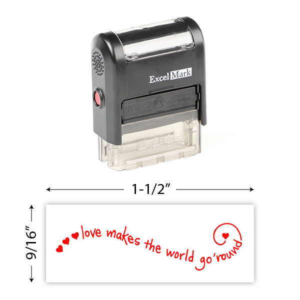 Love Makes The World Stamp