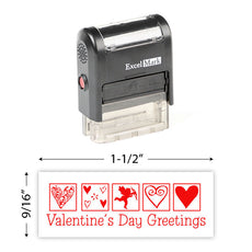 Valentines Day Greetings Stamp