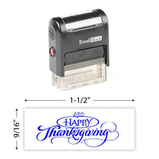 Happy Thanksgiving (Leaf) Stamp