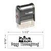 Happy Thanksgiving (Pilgrims) Stamp