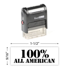100% All American Stamp