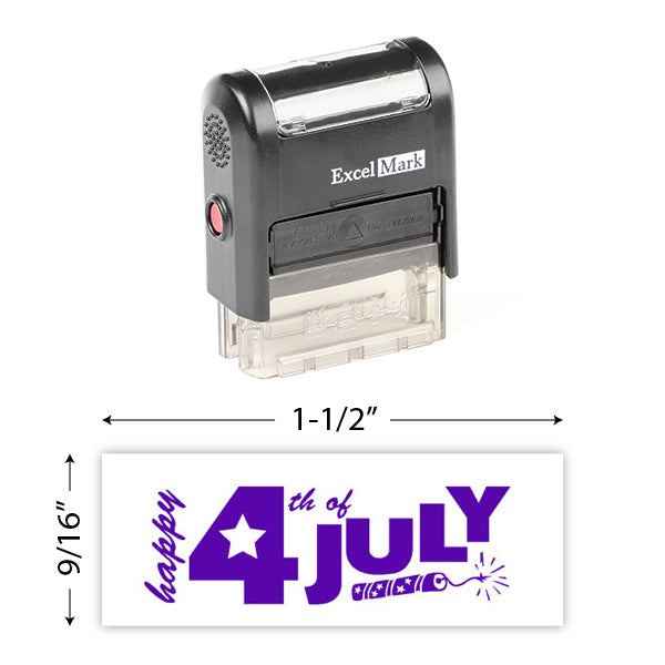 Happy 4Th Of July (Fireworks) Stamp