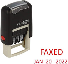 Small Faxed Date Stamp