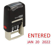 Small Entered Date Stamp