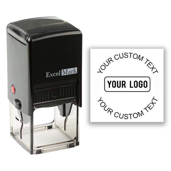 Square Self-Inking Logo Stamp