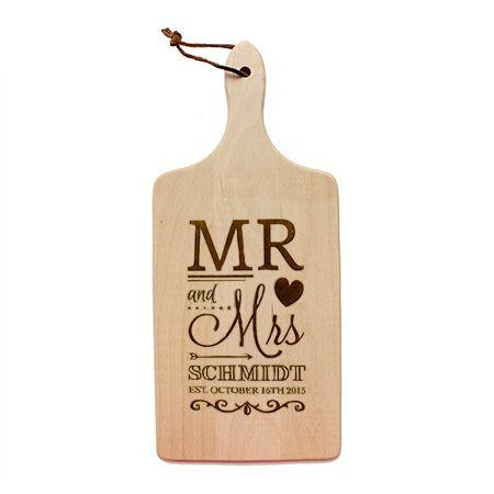 Mr and Mrs Cutting Board