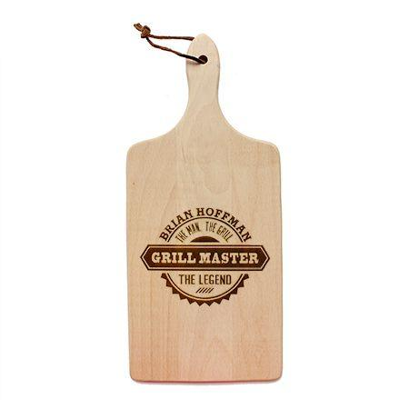 The Man The Grill The Legend Cutting Board
