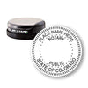 Round Slim Colorado Notary Stamp
