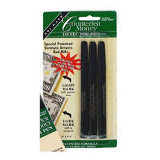 Smart Money Counterfeit Detector Pen - 3 Pack