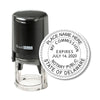 Round Self-Inking Delaware Notary Stamp