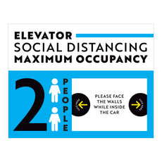 Maximum Occupancy of 2 Elevator Sign