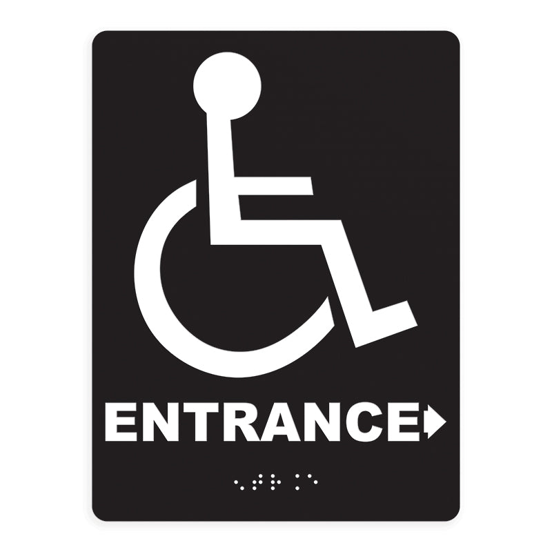 ADA Compliant Entrance Right Arrow Access Sign