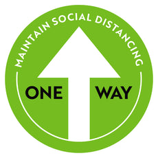 One Way Social Distancing Arrow Floor Decal