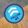 Follow Me Arrow Floor Decal