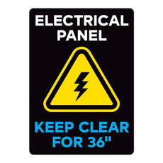 "Electrical Panel Keep Clear For 36"" Warehouse Safety Sign"