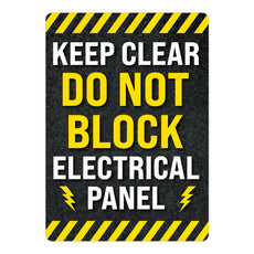 Keep Clear Do Not Block Electrical Panel Warehouse Safety Sign