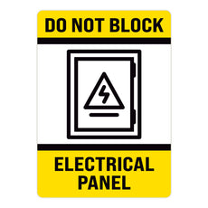 Do Not Block Electrical Panel Warehouse Safety Sign