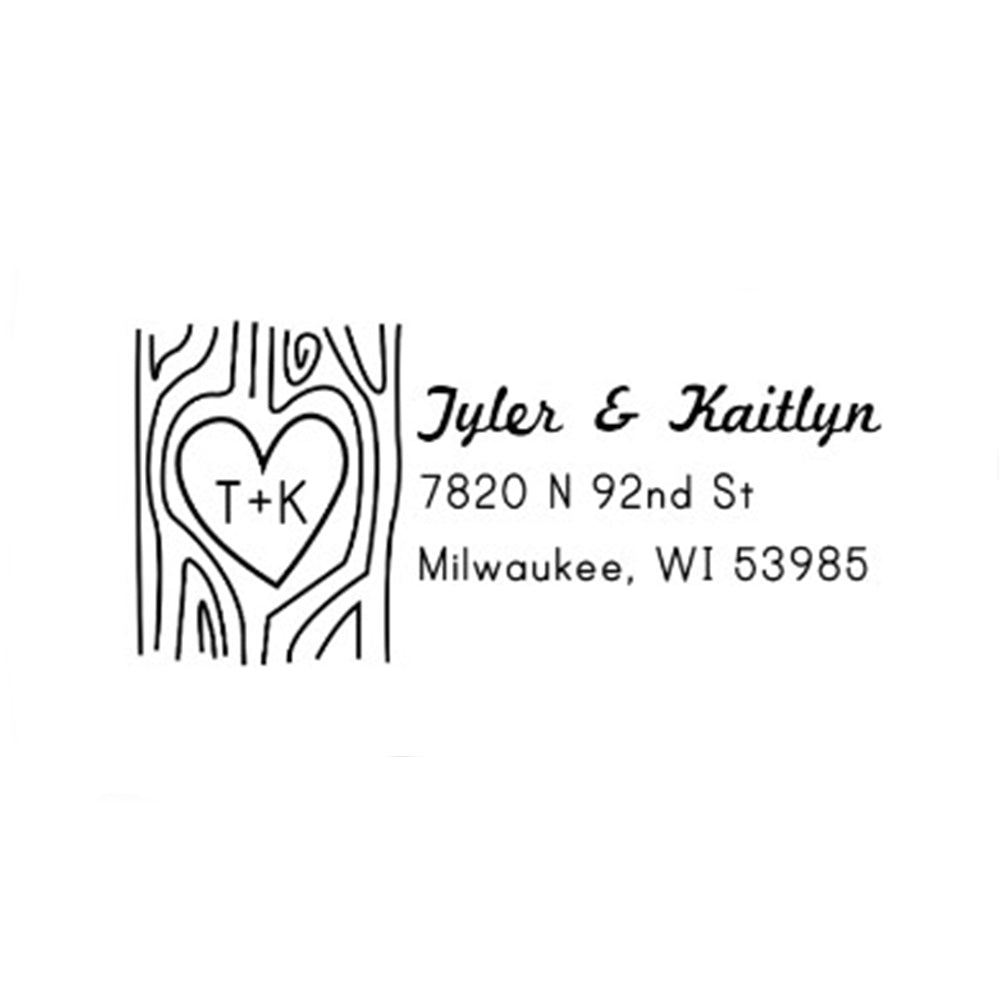 Engraved Tree Address Stamp