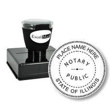 Round Pre-Inked Illinois Notary Stamp