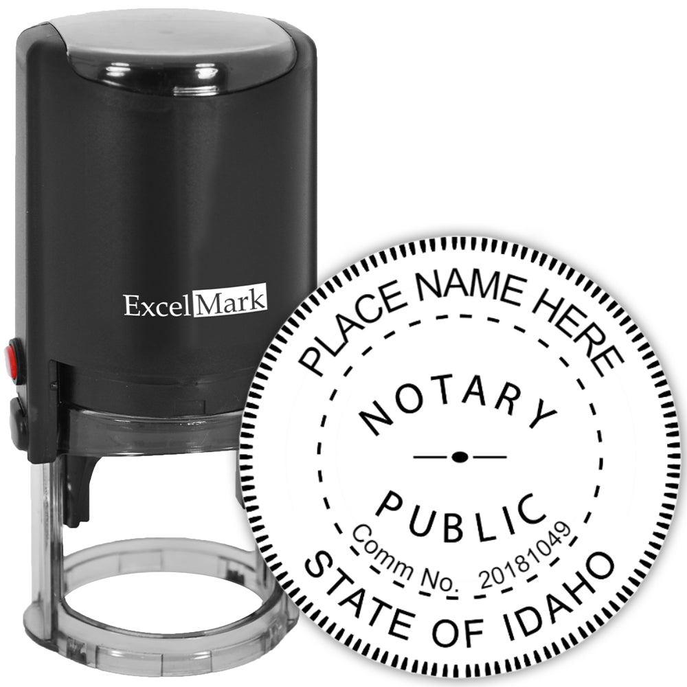 Round Self-Inking Idaho Notary Stamp