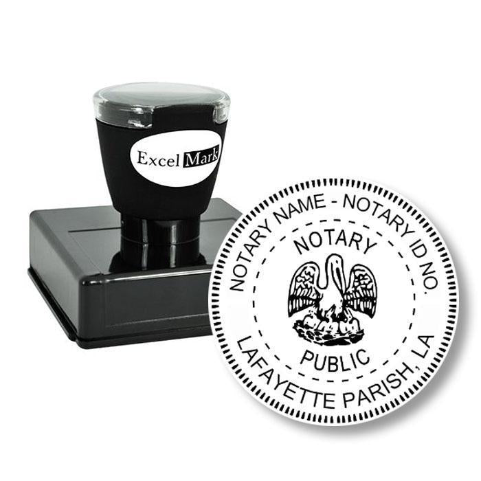 Round Pre-Inked Louisiana Notary Stamp
