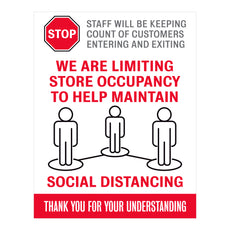 Limiting Store Occupancy Decal