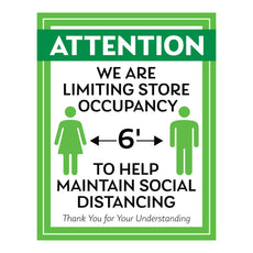 Help Maintain Social Distancing Decal