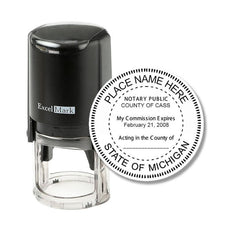 Round Self-Inking Michigan Notary Stamp