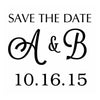 Save The Date Monogram Design Embosser