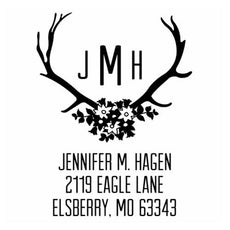 Antler Monogram Address Embosser