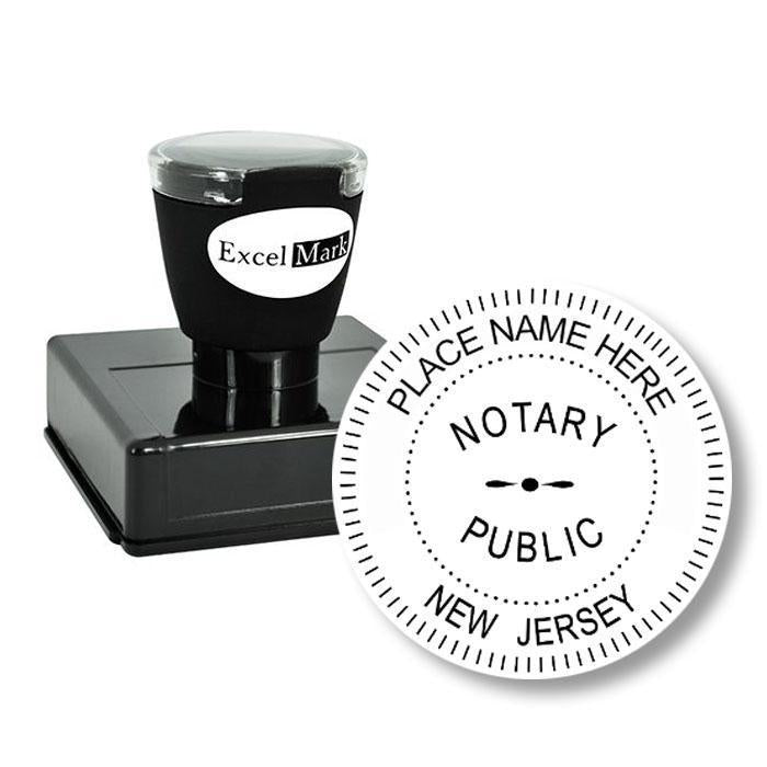 Round Pre-Inked New Jersey Notary Stamp