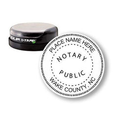 Round Slim North Carolina Notary Stamp