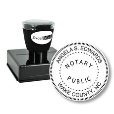 Round Pre-Inked North Carolina Notary Stamp