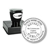 Round Pre-Inked North Dakota Notary Stamp