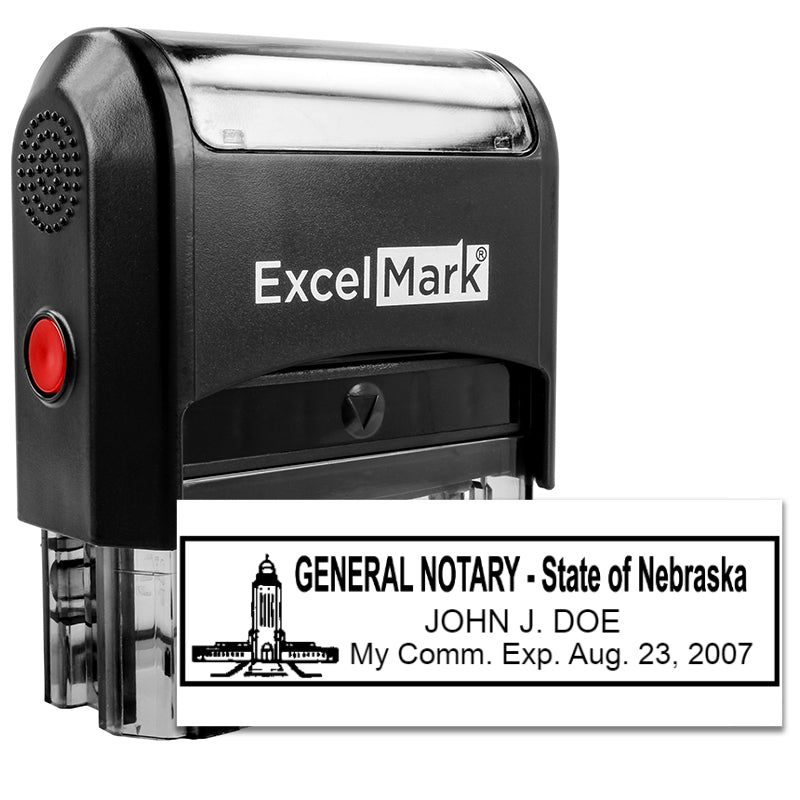 Self-Inking Nebraska Notary Stamp